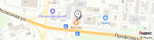 Авангард на карте Костромы
