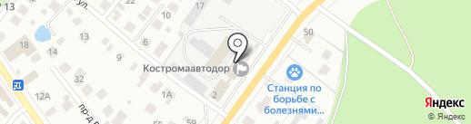 Департамент транспорта и дорожного хозяйства Костромской области на карте Костромы