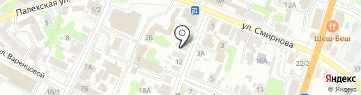 Парикмахерская на Московской на карте Иваново