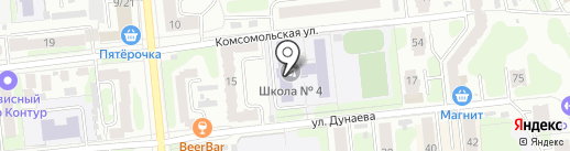 Средняя общеобразовательная школа №4 на карте Иваново