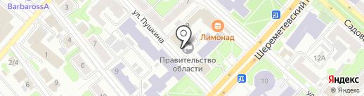 Правительство Ивановской области на карте Иваново