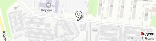 Гаражный кооператив №1 на карте Костромы