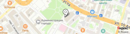 Сеть магазинов канцелярских товаров и книг на карте Иваново
