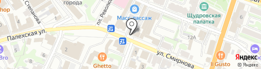 Радуга шаров на карте Иваново