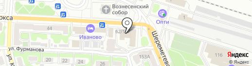 Областной координационно-методический центр культуры и творчества г. Иваново на карте Иваново