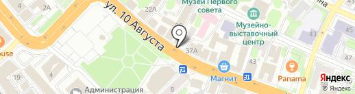 Полосатый рейс на карте Иваново