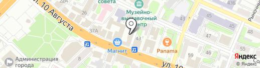 Золотой стиль на карте Иваново