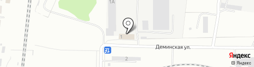 Столовая на Демина на карте Костромы