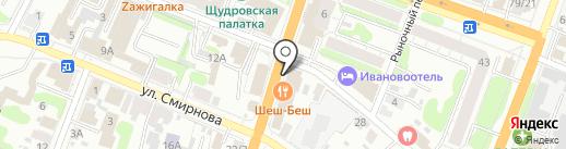 Лига ставок на карте Иваново