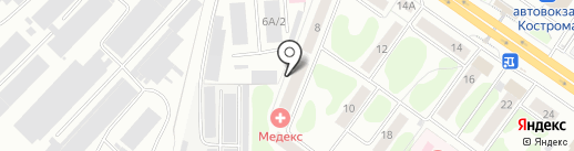 Медекс на карте Костромы