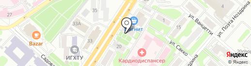 Спутник на карте Иваново