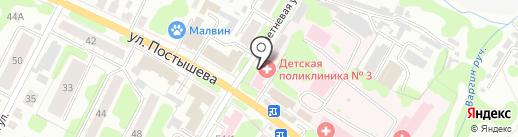 Детская поликлиника №3 на карте Иваново