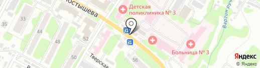 Березка на карте Иваново