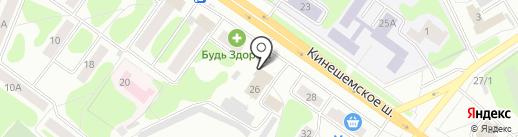 Костромские бани на карте Костромы