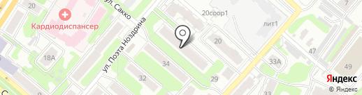 Текстилька на карте Иваново