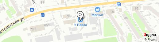 Костромская фанера на карте Костромы