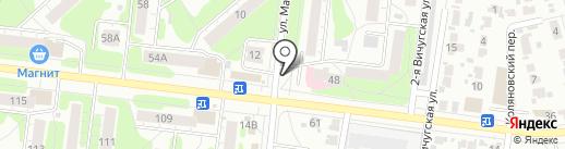 Магазин хлебобулочных изделий на карте Иваново