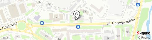 КБ Независимый Строительный Банк на карте Иваново