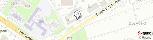 Павлов на карте Костромы