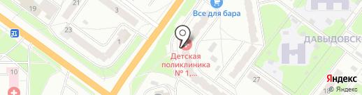Детская поликлиника №1 на карте Костромы