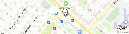 Магазин цветов на Кинешемском шоссе, 60а на карте Костромы