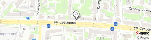 Мастерская по изготовлению ключей на ул. Суворова на карте Иваново