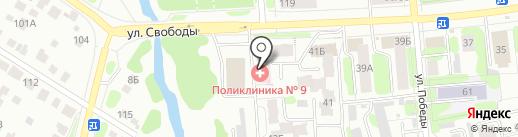 Поликлиника №9 на карте Иваново