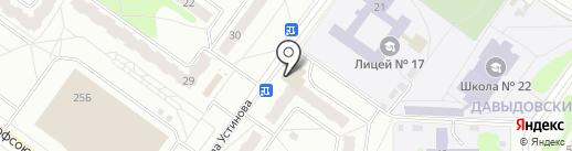 Риострой на карте Костромы