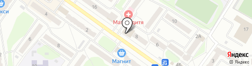 Волос на карте Костромы