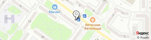 Киоск по продаже овощей и фруктов на карте Костромы
