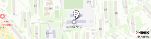 Средняя общеобразовательная школа №20 на карте Иваново