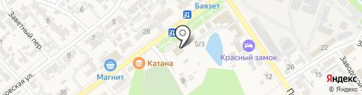Катана на карте Новокубанска