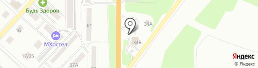 ГРАСС на карте Костромы