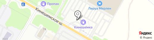 Кинешемка на карте Караваево