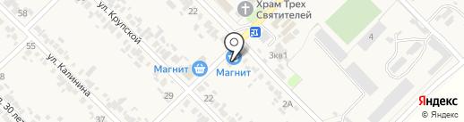 Магнит на карте Глубокого