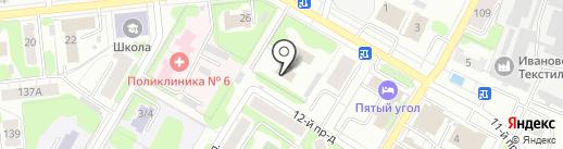 Отдел полиции №3 Советского района г. Иваново на карте Иваново
