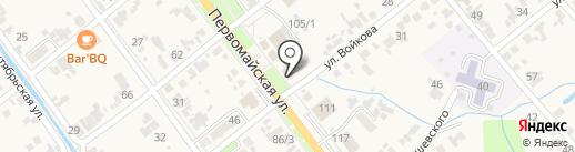Банк Петрокоммерц на карте Новокубанска