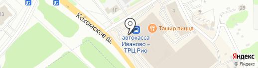 Улица гобелена на карте Иваново