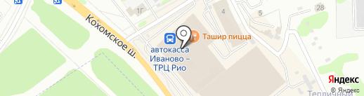 Восточный экспресс на карте Иваново