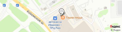 Магазин мужской и женской одежды на карте Иваново