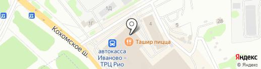 Баттерфляй-текстиль на карте Иваново