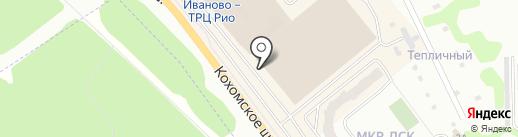 Льняная палитра на карте Иваново