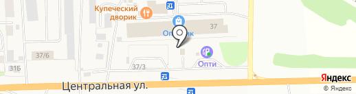 Автомойка на Центральной на карте Фанерника