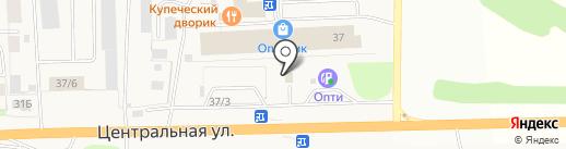 Автомойка на Центральной, 37/4 на карте Фанерника