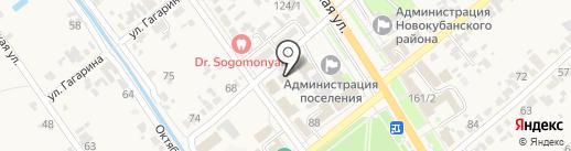 Центральный на карте Новокубанска