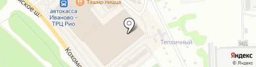 Магазин постельного белья на карте Иваново