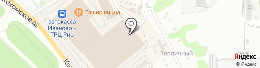 Магазин чулочно-носочных изделий на карте Иваново