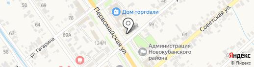 Управление Пенсионного фонда РФ в г. Новокубанске на карте Новокубанска