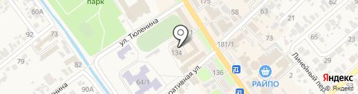 Новокубанская районная общественная организация Ветеранов войны, труда и вооруженных сил на карте Новокубанска