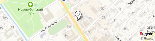 Никки на карте Новокубанска